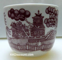 Red Landscape Tea Cup
