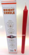 12 Inch Red Joss Bright Candles 2pcs 8oz Box
