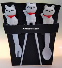 Fortune Lucky Cat Maneki Neko Children Utensil Set