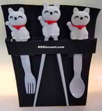 Fortune Lucky Cat Maneki Neko Children Utensil Set