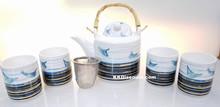 Ocean Breeze Porcelain Teapot Tea Set