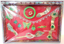 Women Gold Jade Jewelry Joss Set