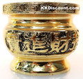 Small Brass Color Metal Joss Incense Holder Pot