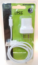 PCC Android Blackberry 4FT Micro USB Cable  with AC Charger