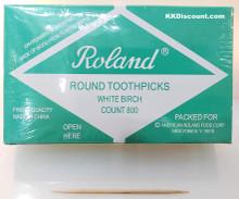 Roland 800 Round Wooden Toothpicks