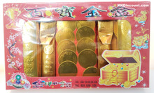Chinese Gold Bar Coins Nuggets Joss Set
