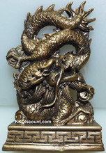 Chinese Dragon Gold Figure