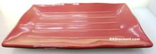 Two Tone Red Black Melamine Rectangular Plate