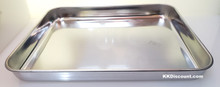 10 Inch Rice Noodle Roll Silver Rectangular Tray