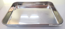 9 Inch Rice Noodle Roll Silver Rectangular Tray