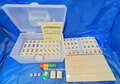 Ivory Mahjong Tiles Game Set with Numbers and English Instruction
