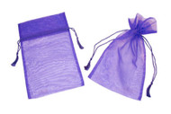 6 x 10 Organza Bag w/ Fine Tassel Hair - 12 pcs