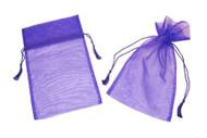 6 x 10 Organza Bag w/ Fine Tassel Hair - 12 pcs