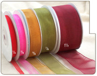 3/8 inch Sheer Organza Ribbon - 25 yds