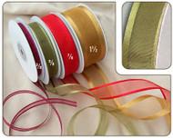 3/8 inch Organza Ribbon with Satin Edge - 25 yds