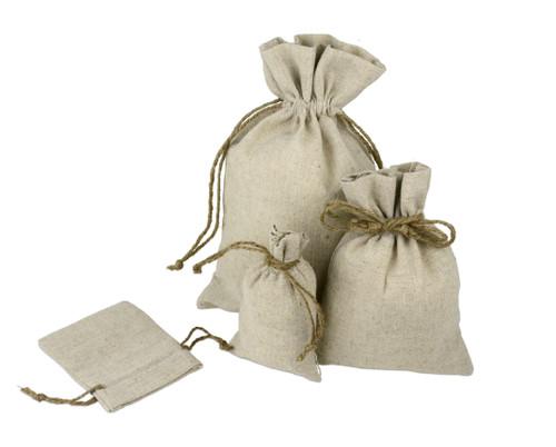 4 x 6 Linen Bag - 12 pcs