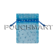 4 x 6 Blue Polka Dot Tulle Bag