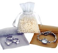 3 x 4 Plain Organza Bags - 10 pcs