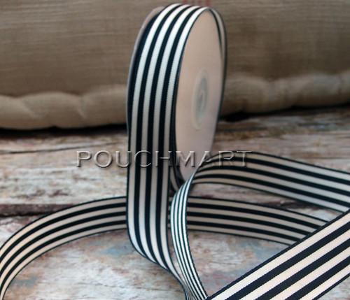 7/8 inch striped ribbon