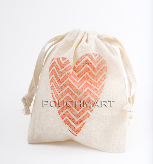 Heart Print Canvas Bag