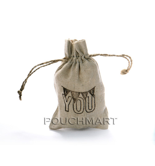 Love You Print Linen Bag