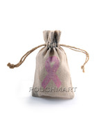 Awareness Ribbon Print Linen Bag