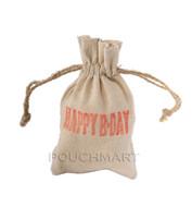 Happy BDay Print Linen Bag