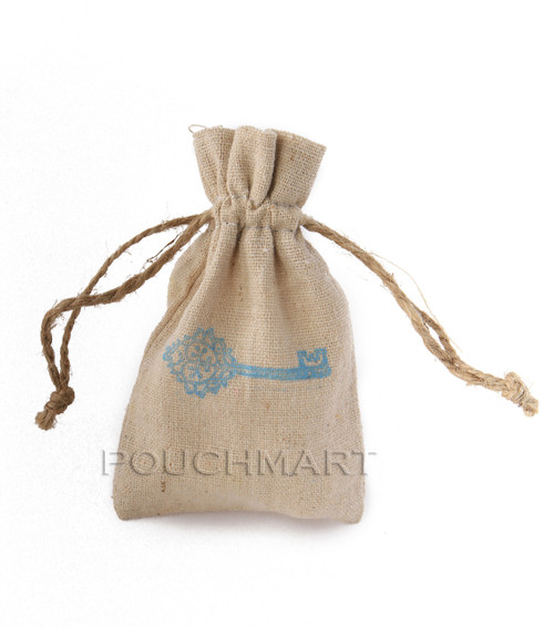 Skeleton Key Print Linen Bag