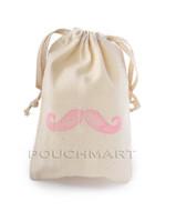 Large Mustache Print Canvas Bag