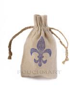 Fleur De Lis Print Linen Bag
