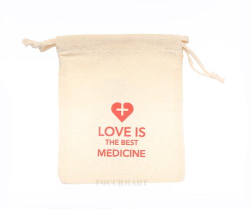 Love is the best medicine canvas bag