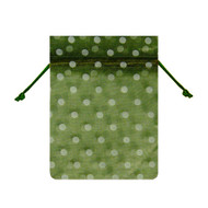 4 x 6 Polka Dot Organza Bag - 6 pcs