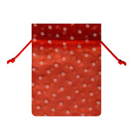 6 x 10 Polka Dot Organza Bag - 6 pcs