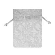 6 x 9 Lace Bag w/ Satin Ribbon - 6 pcs