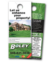 "DH385   3.5"" x 8.5"" Custom Door Hangers"