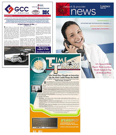 "Newsletter / Magazine / Event Program - Printed on your choice of stock, Page size of 8.5"" x 11"" printed on 11"" x 17"" stock, folded and stapled."