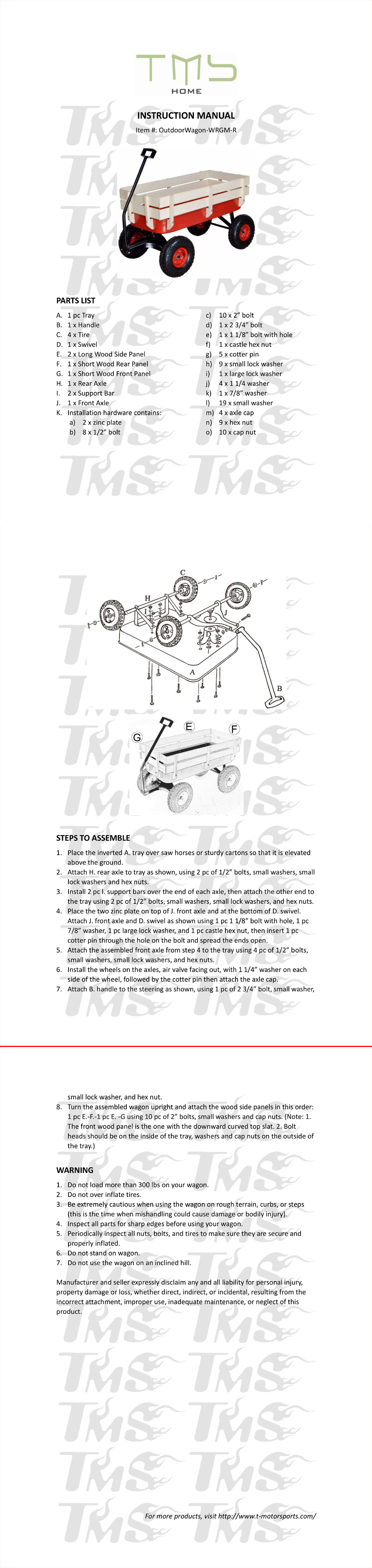Assembly Instructions (N-Z) - T-MOTORSPORTS Online Store