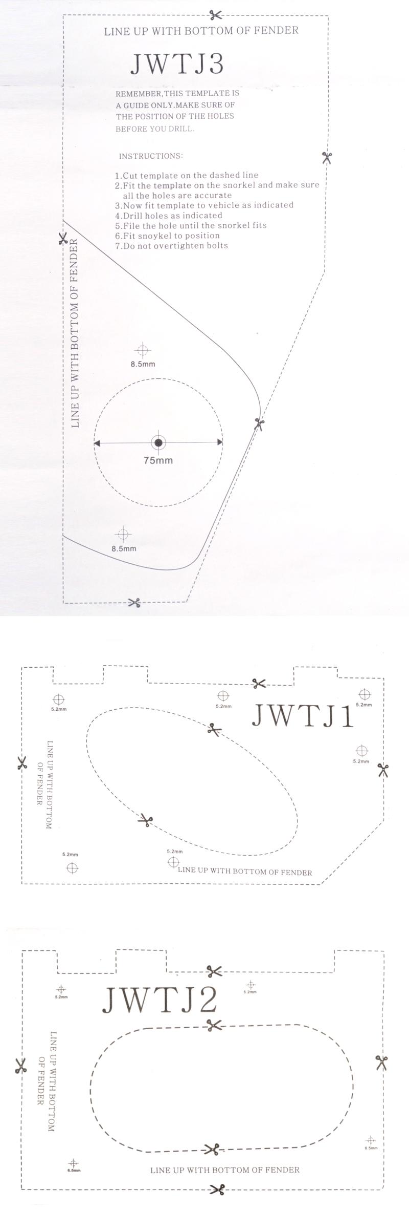 Assembly Instructions N Z T Motorsports Online Store Pv Wiring Diagram Nz Snorkel Sjxja Installation Manual