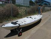 New Jon Boat Kayak Canoe Carrier Dolly Trailer Tote Trolley Transport Cart Wheel