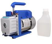3 CFM Single-stage Rotary Vane Vacuum Pump R410a R134 Hvac A/c Air Refrigerant