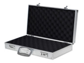 Aluminum Framed Locking Gun Carry Case Handgun Pistol Revolver Lock Box Storage