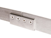 Stainless Steel Barn Wood Door Sliding Flat Rail Connector Hardware Spare Part Replacement
