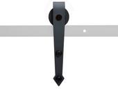 Black Modern Steel Sliding Wooden Door Roller Hardware Replacement Part Bracket