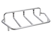 Chrome Motorcycle Tour Trunk Tail Box Luggage Metal Top Rack