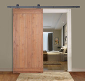 "36""x84"" Natural Wood Knotty Alder Primed Solid Barn Core Sliding Interior Door"