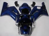 SOLID BLUE FAIRING BODYWORK COMPLETE KIT FOR KAWASAKI NINJA ZX-6R 636 ZX6R 03-04