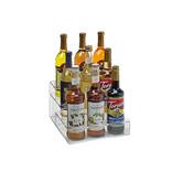 Acrylic Syrup Rack, 9 Bottle / 3 Tier