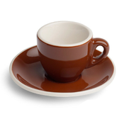 Renaissance Cup & Saucer, 2 oz,  Brown