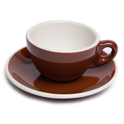 Renaissance Cup & Saucer, 6 oz, Brown