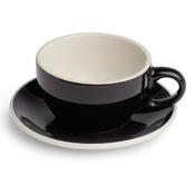 Renaissance Cup & Saucer, 6 oz, Black